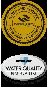 WQA Gold Seal, IAPMO Platinum Seal